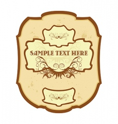Vintage label wine vector