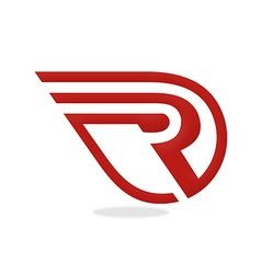 R logo initial business vector