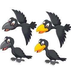 Cute cartoon raven vector