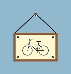 Bicycle hanging sign board vector