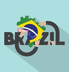 Brasilia the capital city of brazil typography vector