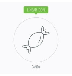 Candy icon sweet sugar lollipop sign vector