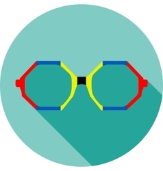 Super hero mask glasses collection flat style vector