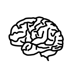 Brain icon isolated on white background vector