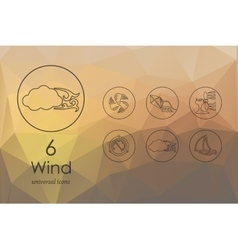 Set of wind icons vector