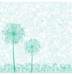 Dandelion retro card vector