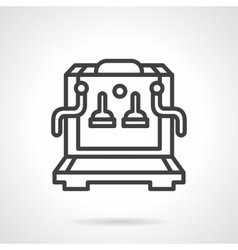 Coffee machine simple line icon vector
