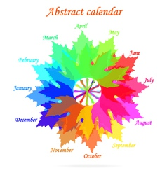 Abstract calendar vector