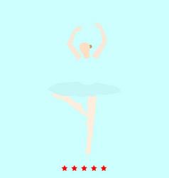ballet dancer set it is color icon vector image
