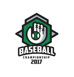 Baseball championship 2017 logo design element vector