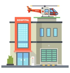 Building of hospital vector image vector image