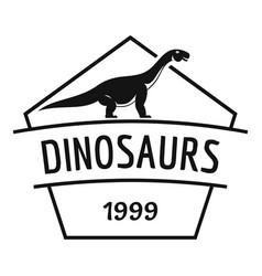 Dinosaur logo simple black style vector