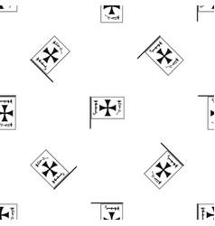 flag of columbus pattern seamless black vector image vector image