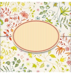 Flower retro sticker background vector