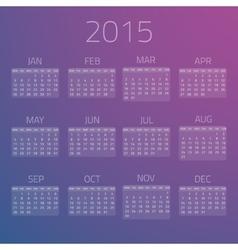Gloss calendar 2015 background vector