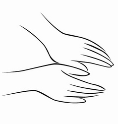 hand massage vector image vector image