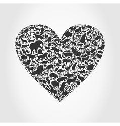 Heart animal3 vector image