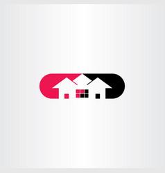 house logo symbol icon clip art vector image vector image