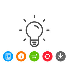 Light bulb line icon lamp sign vector