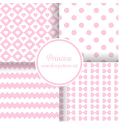 little princess girl romantic pink theme with vector image