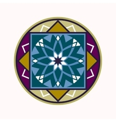 Mandala tattoo colored icon geometric round vector