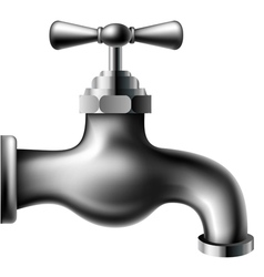 Metallic water tap vector