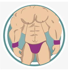 muscles vector image