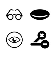 Optometry simple related icons vector