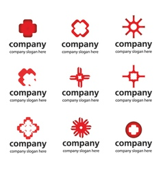 Red medical logo vector