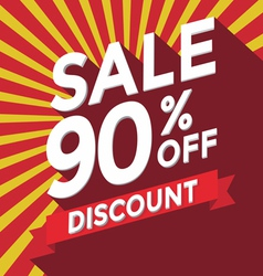 Sale 90 persent off discount vector image