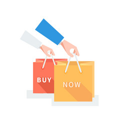 Sale badge buy now concept design vector