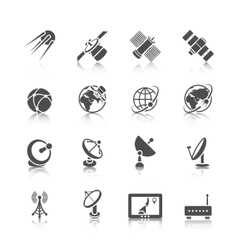 Satellite icons set vector