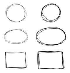 set of hand drawn square frames vector image