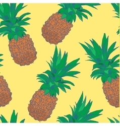 Sketchy style pineapple seamless pattern vector image vector image