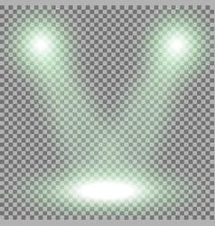 spotlight light effect green color vector image