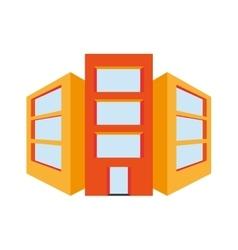 three buildings icon vector image