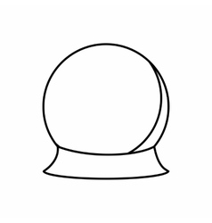Crystal ball icon outline style vector