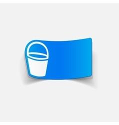 Realistic design element bucket vector