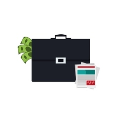 Briefcase and medical history icon vector