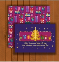 Elegant Christmas card with an envelope vector image
