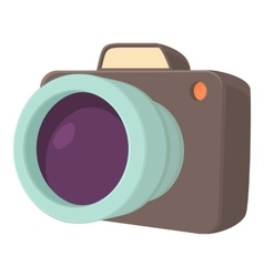 Camera icon cartoon style vector