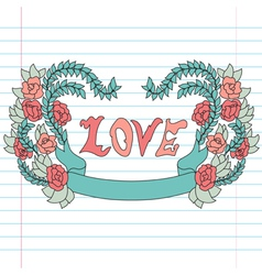 Decorative love banner vector