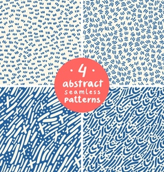 Doodle abstract patterns part 4 vector