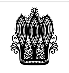 Decorative ornate crown vector