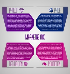 Editable modern template - marketing mix 4p vector