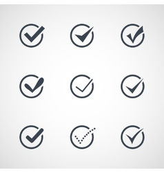 Modern confirm icons set vector