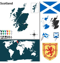 Scotland map world vector