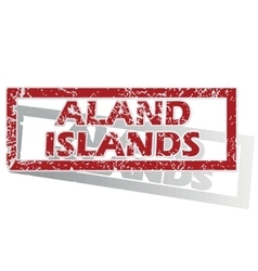 Aland islands outlined stamp vector