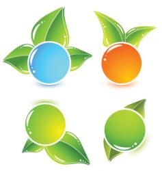 leafy icons vector image