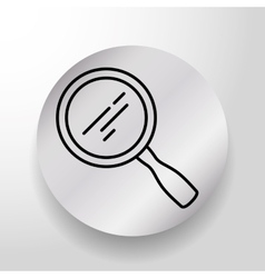 Magnifying glass searching vector